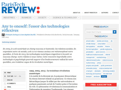 Any to oneself: l'essor des technologies réflexives