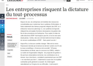 Article Les entreprises risquent la dictature du tout processus