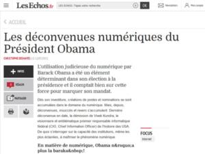 Article Les déconvenues numériques du Président Obama